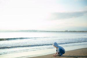 【神奈川】江ノ島周辺での家族写真 おかあさんだいすき
