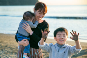 【神奈川】江ノ島周辺での家族写真|おかあさんだいすき